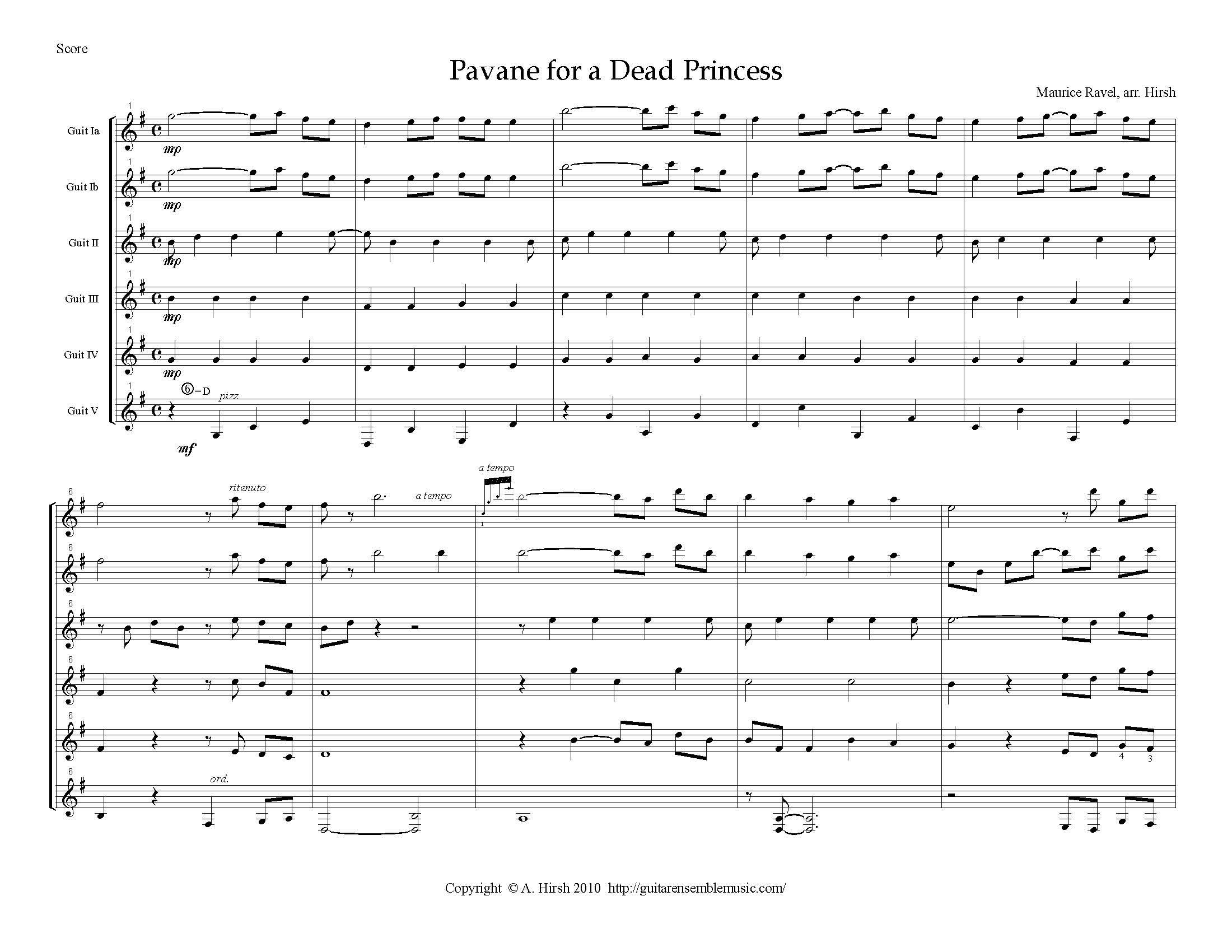 Pavane (For A Dead Princess)